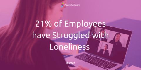 Management von Remote-Mitarbeitern Loneliness