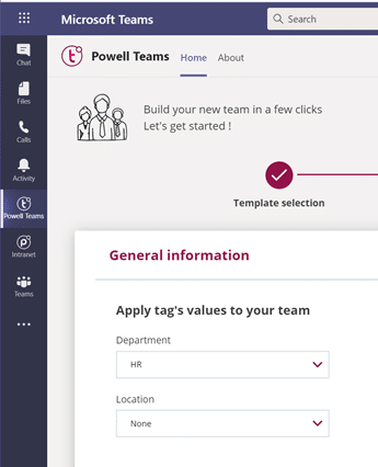 Users are guided - Powell Teams